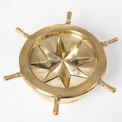Revolving Chair Without Wheels Pier 1 Circle Small Brass Nautical Themed Ash Tray With Rotating Ships