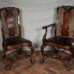 Queen Anne Style Chairs Baby Walking Chair Age 14 Walnut Dining At 1stdibs