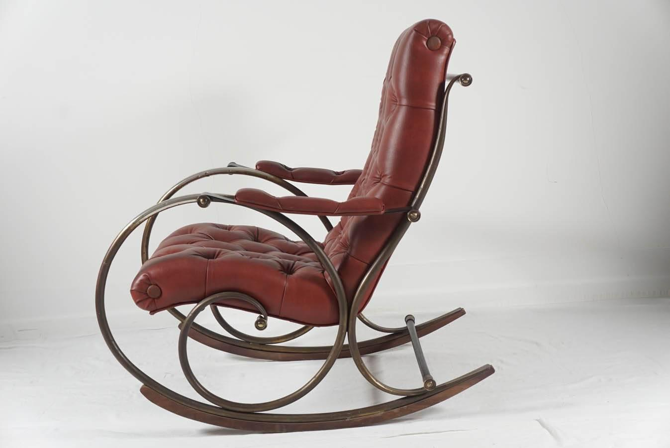 mid century rocker chair wayfair chaise lounge chairs lee woodard rocking at 1stdibs
