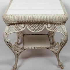 White Wicker Chairs And Table Two Patio For Sale At 1stdibs