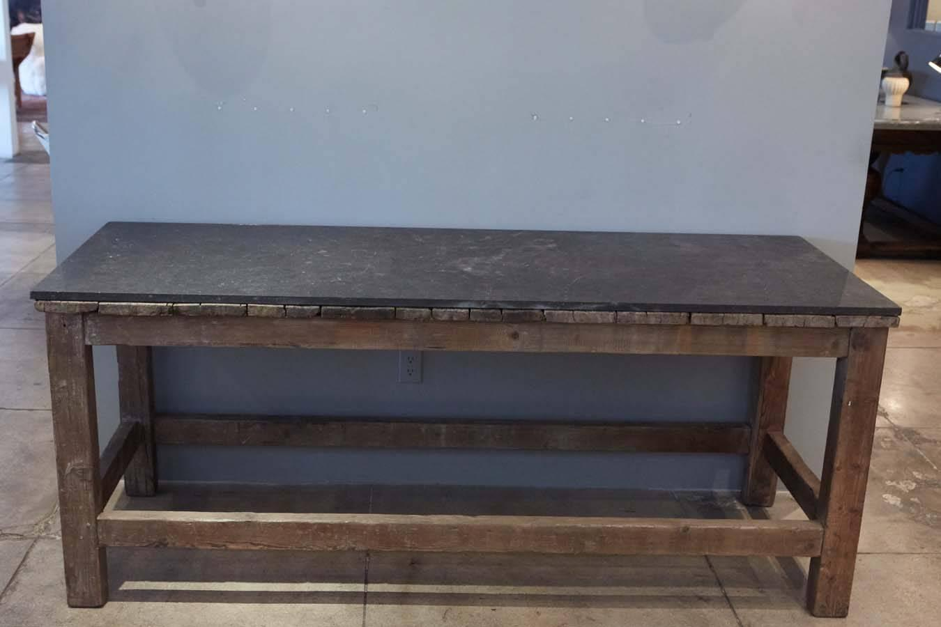 slate sofa table big lots jennifer bed locations french top console circa 1800s for sale at 1stdibs