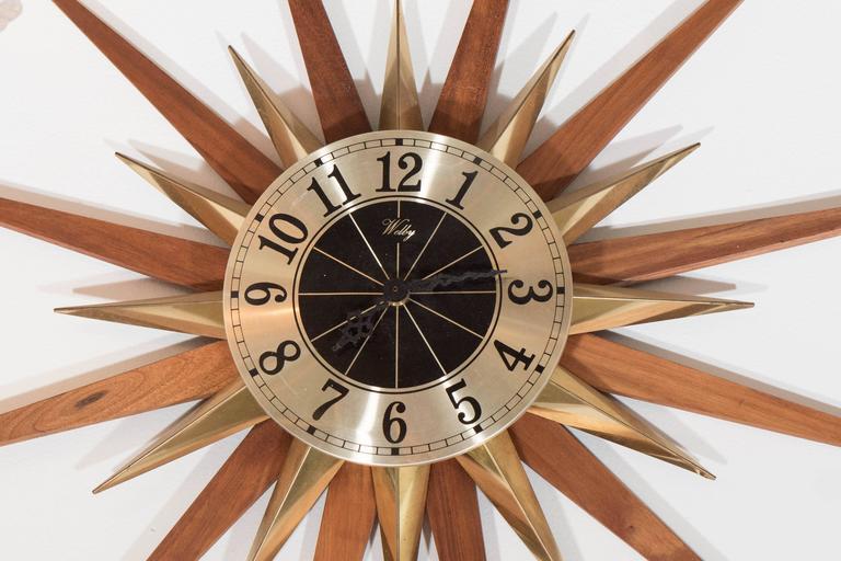 Starburst Sunburst Wall Clocks