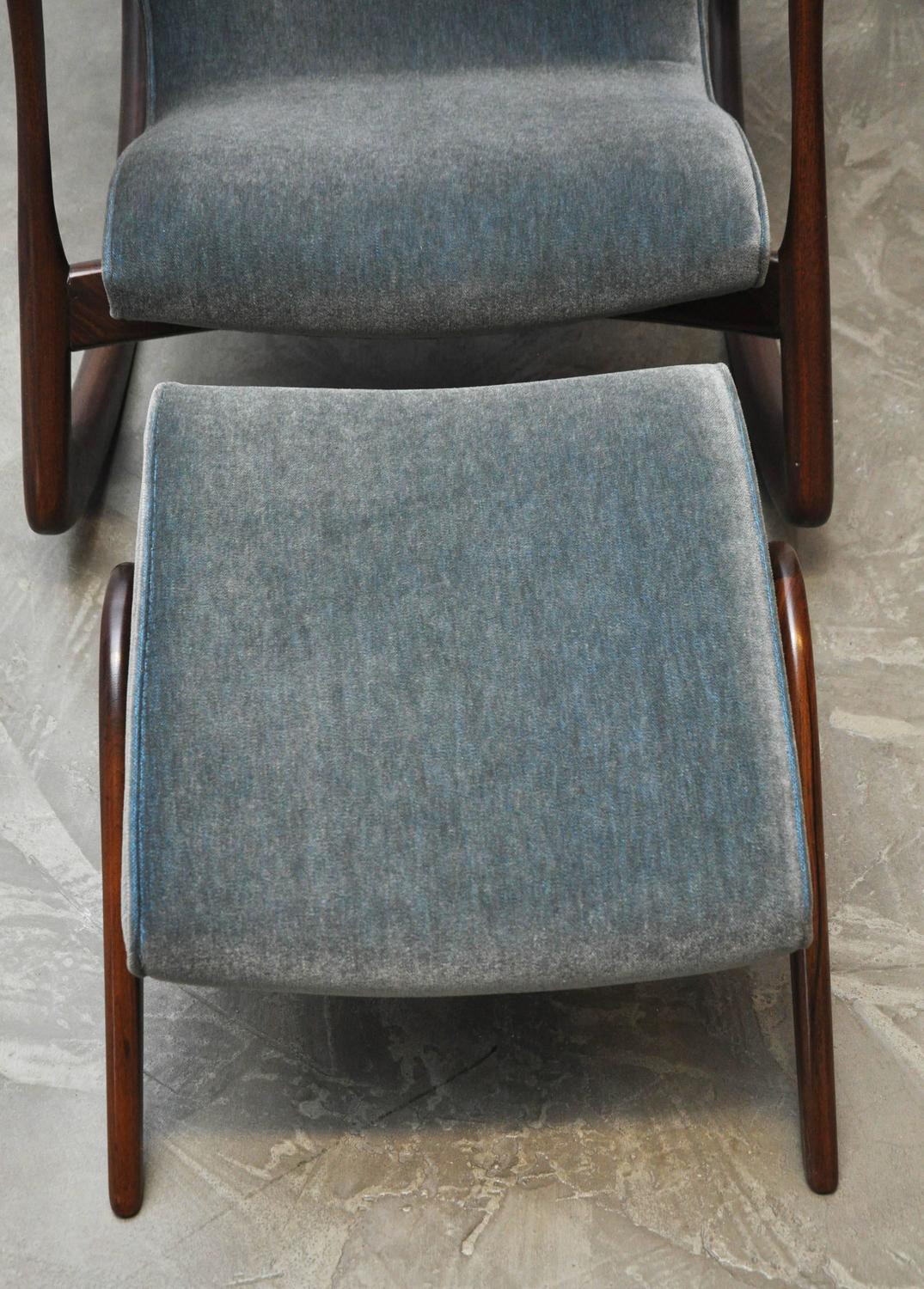 vladimir kagan rocking chair stretch recliner covers with ottoman for sale at 1stdibs