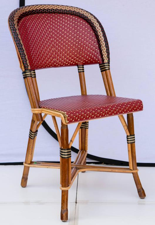 plastic bentwood bistro chairs costco desk fantastic set of four maison drucker bastille bamboo at 1stdibs