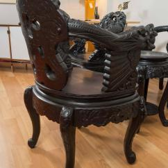Antique Chinese Dragon Chair Hammock Stand Calgary Pair Of Hand Carved Chairs At 1stdibs