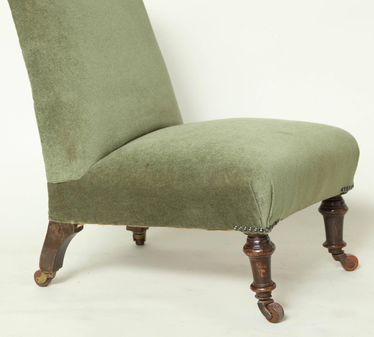 upholstered slipper chair pottery barn everyday edwardian for sale at 1stdibs