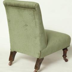 Upholstered Slipper Chair Heavy Duty Lift Edwardian For Sale At 1stdibs