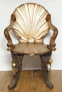 Pair of Venetian Baroque-Style Shell Chairs at 1stdibs
