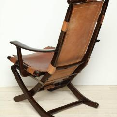 Folding Chair Leather The Wishing Mid Century Tan And Wood Adjustable