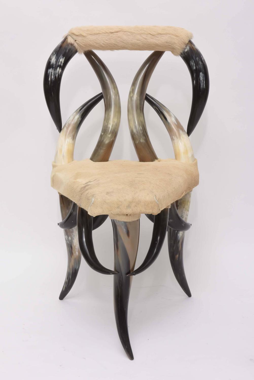 Vintage Steer Horn Chair For Sale at 1stdibs