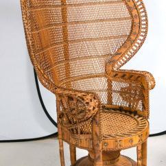 Rattan Peacock Chair Wheelchair Drift At 1stdibs
