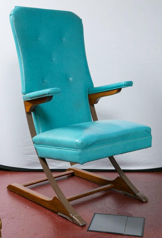 danish modern dining chairs bubble hanging chair set of six blue mid-century mckay spring rocker rocking at 1stdibs