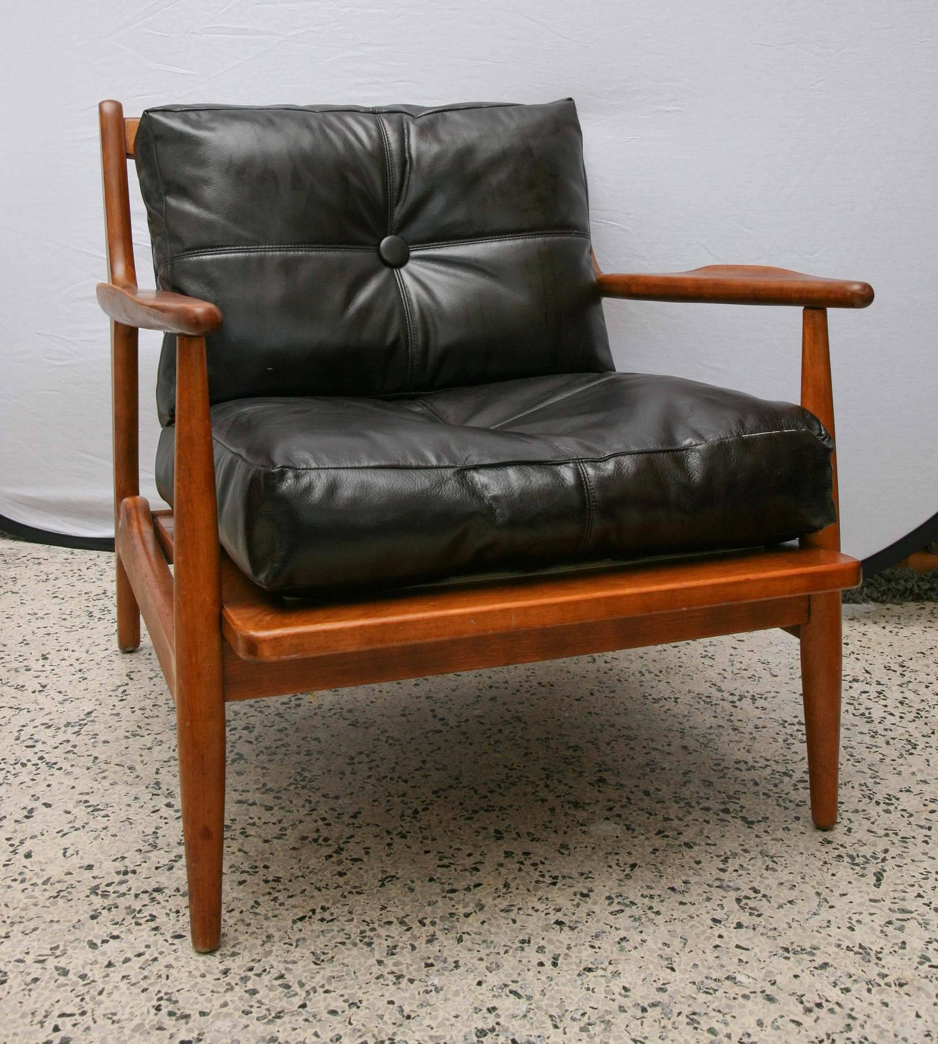 conant ball chair white round teak by 1950s usa for sale at 1stdibs