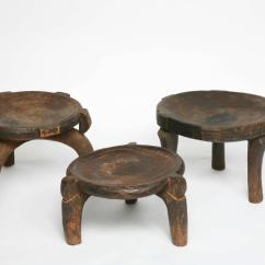 Chair Stool Difference Cheap Dining Covers 3 African Stools Antique Ethiopian Handcarved With