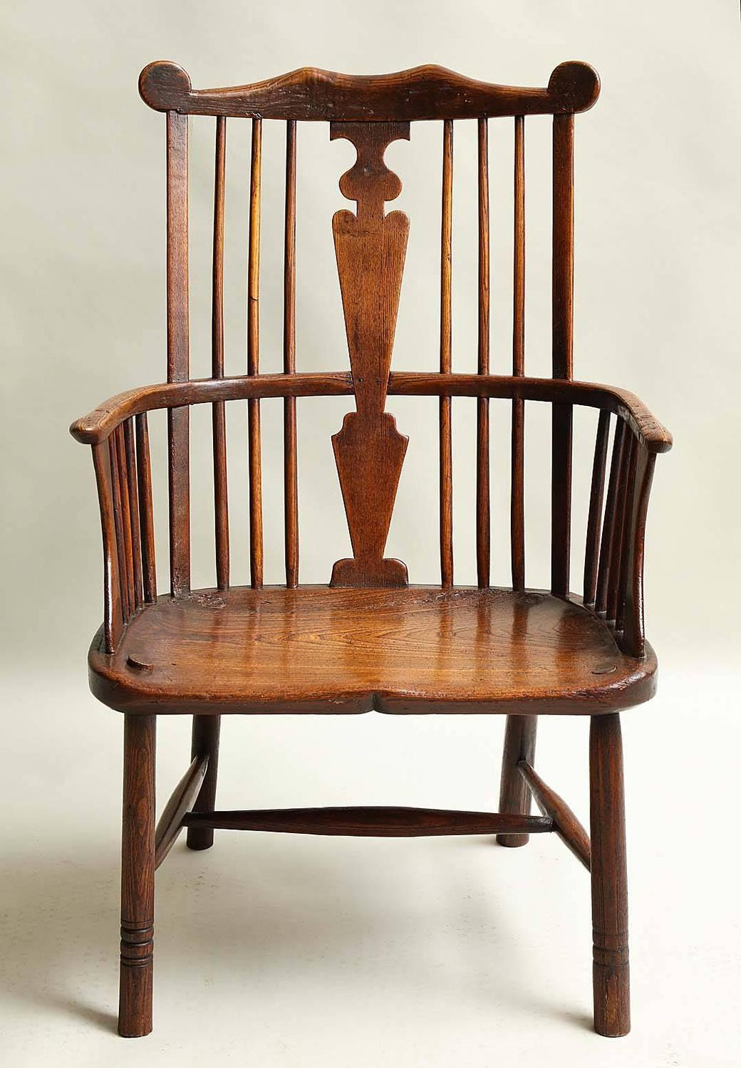 comb back windsor chair dining steel legs 18th century english for sale at
