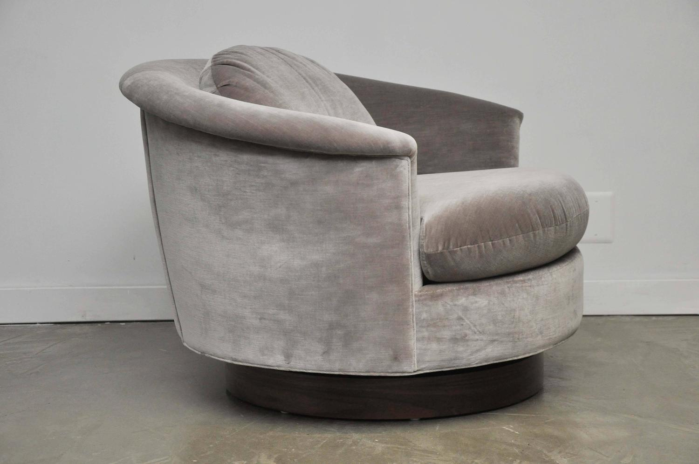 swivel chair large bean bags chairs milo baughman at 1stdibs