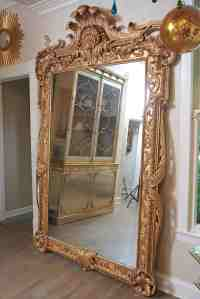 Extra Large Full Length Gold Rococo Dress Mirror At 1stdibs