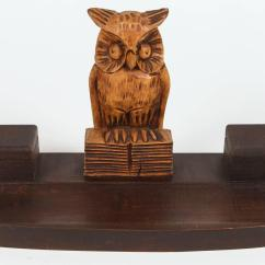 Wood Chair Accessories Modern Art Covers And Linens Black Forest Owl Desk Set For Sale At 1stdibs