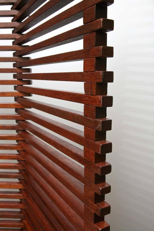 MidCentury Modern Tall Solid Wood Slat Room Divider