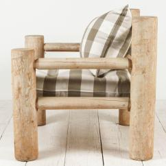 Oversized Upholstered Chair Gaming Stand Log Framed In Grey Twill For