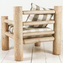 Oversized Upholstered Chair Camping Chairs With Foot Rest Log Framed In Grey Twill For