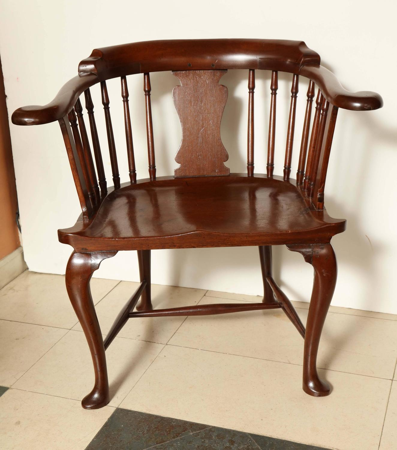 captains chair exercise 2 padded folding rare mahogany captain 39s for sale at 1stdibs