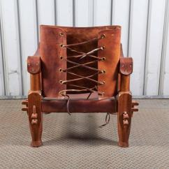 Leather Safari Chair Hanging Luxury For Sale At 1stdibs