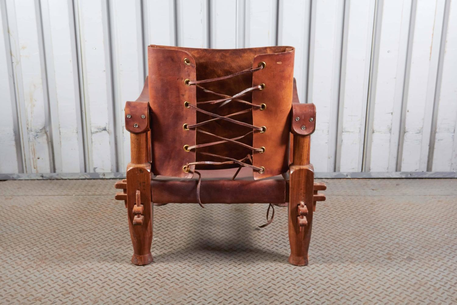 leather safari chair desk arm pads for sale at 1stdibs