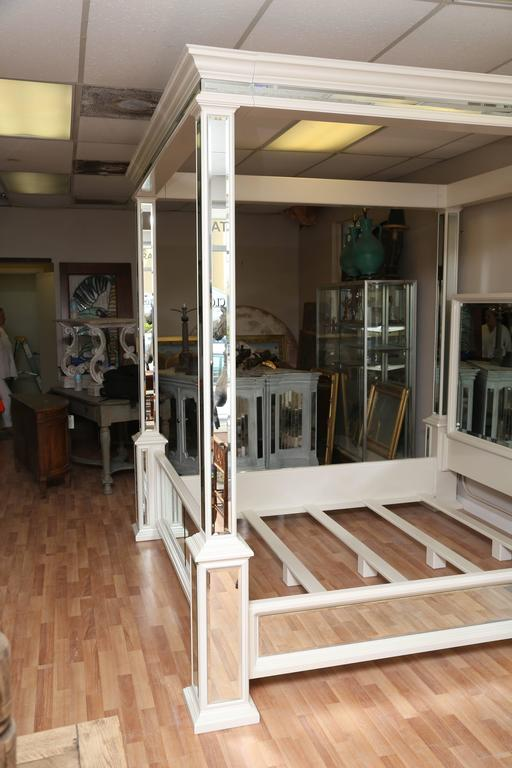 Modern King Size Canopy Mirrored Bed At 1stdibs