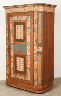 Folk Style Hand-painted Cabinet 1stdibs