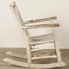 White Rocking Chairs For Sale Picnic Time Painted Rustic Chair At 1stdibs