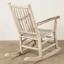 White Rocking Chairs For Sale Pottery Barn Kid Chair Painted Rustic At 1stdibs