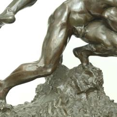 Wrestling Chairs For Sale Baby Swing Chair Uk Quotwrestlers Quot Bronze Sculpture By Jef Lambeaux At