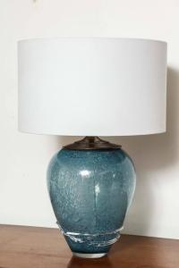 Wedgewood Blue Murano Table Lamps For Sale at 1stdibs