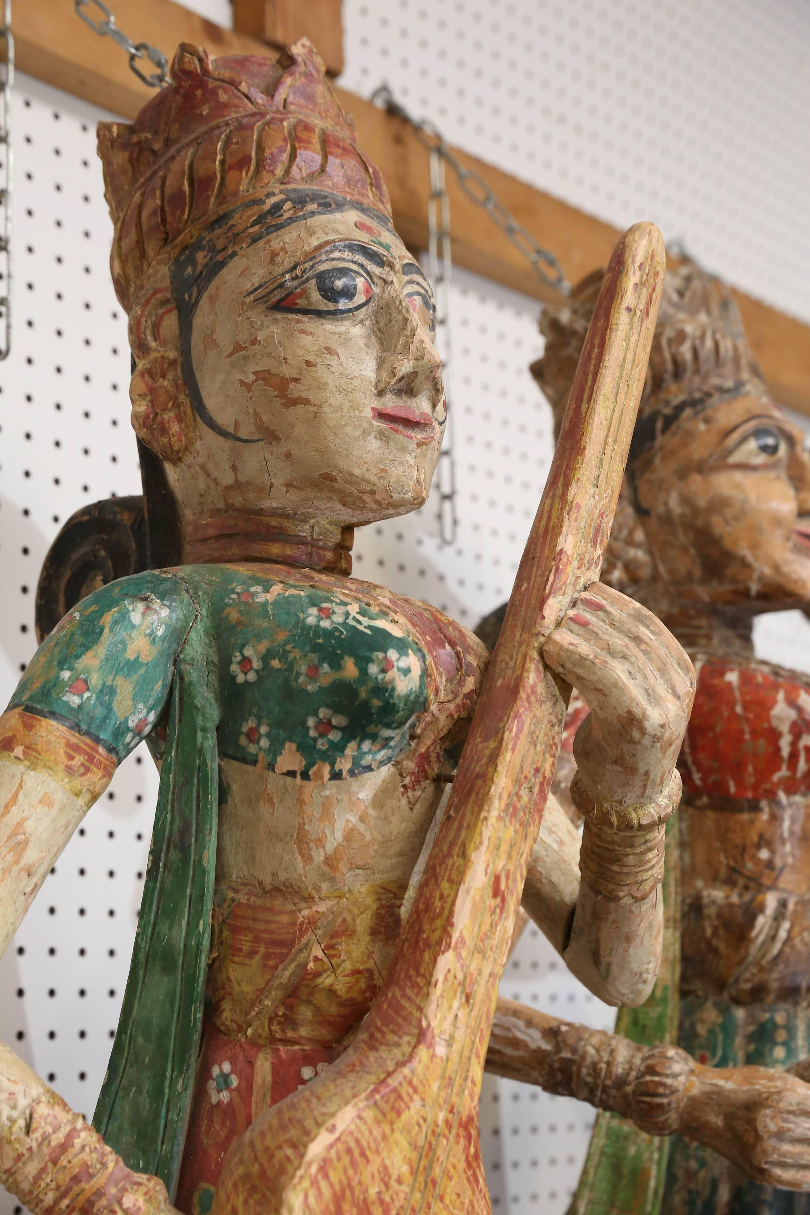 arts and crafts chairs nebraska furniture mart four 1920s solid wood figures of lady musicians from a jain temple in gujarat for sale at 1stdibs
