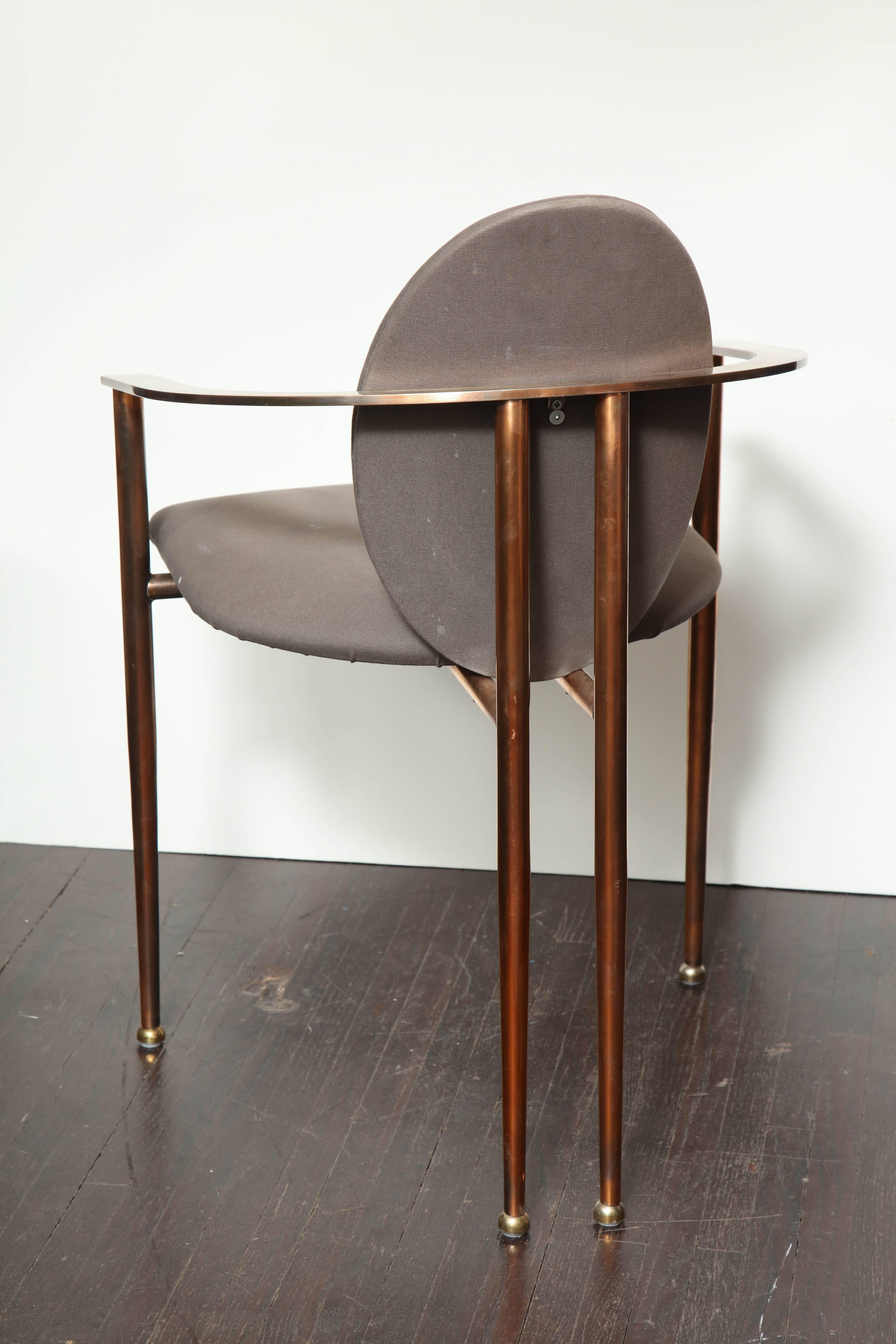 david rowland metal chair fishing not working set of four rose gold-plated chairs, 1970s for sale at 1stdibs