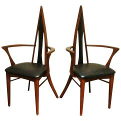 Salon Chairs For Sale Swivel Chair Kitchen Pair Of Canadian Mid Century Biomorphic By