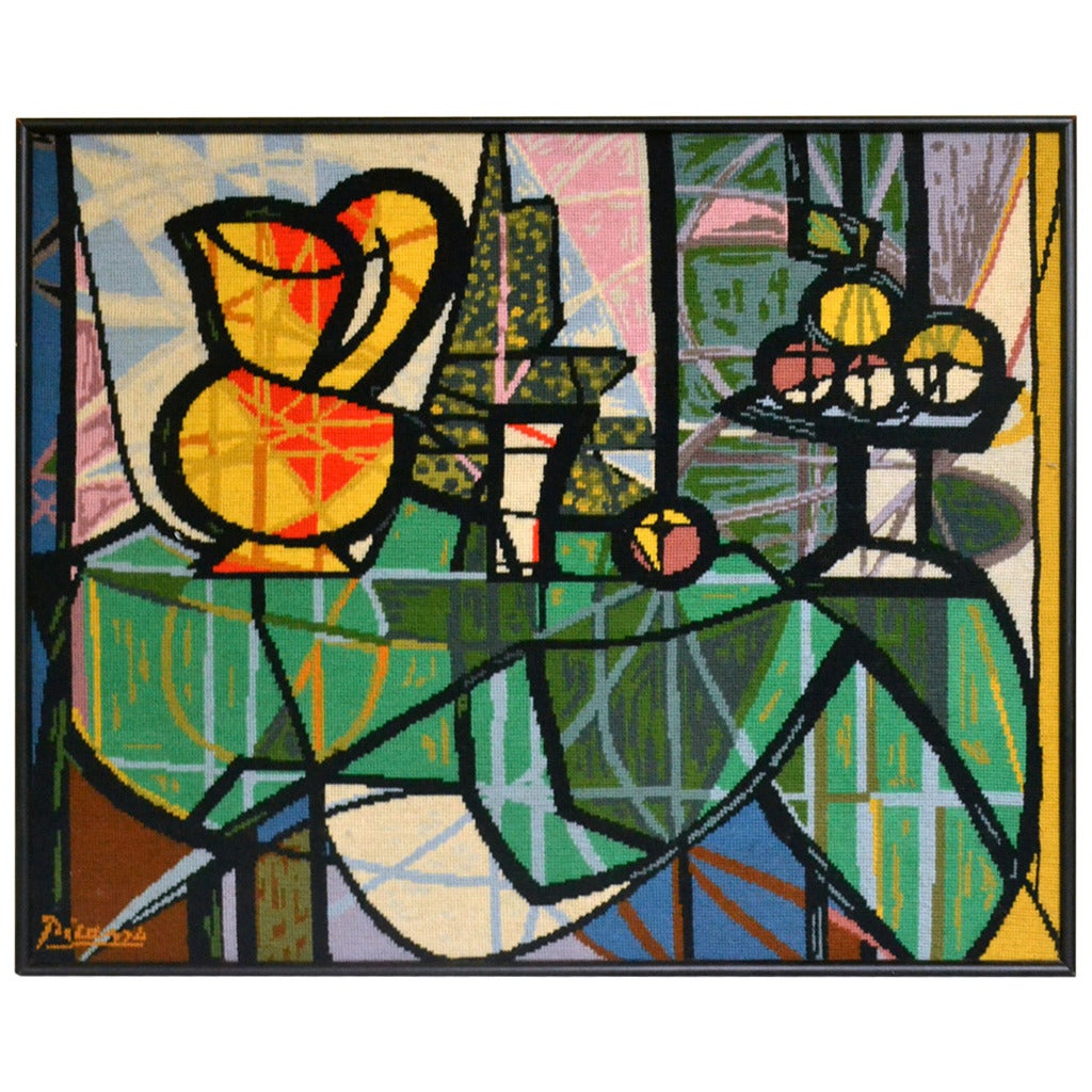 Tapestry Still Life Painting By Pablo Picasso At 1stdibs