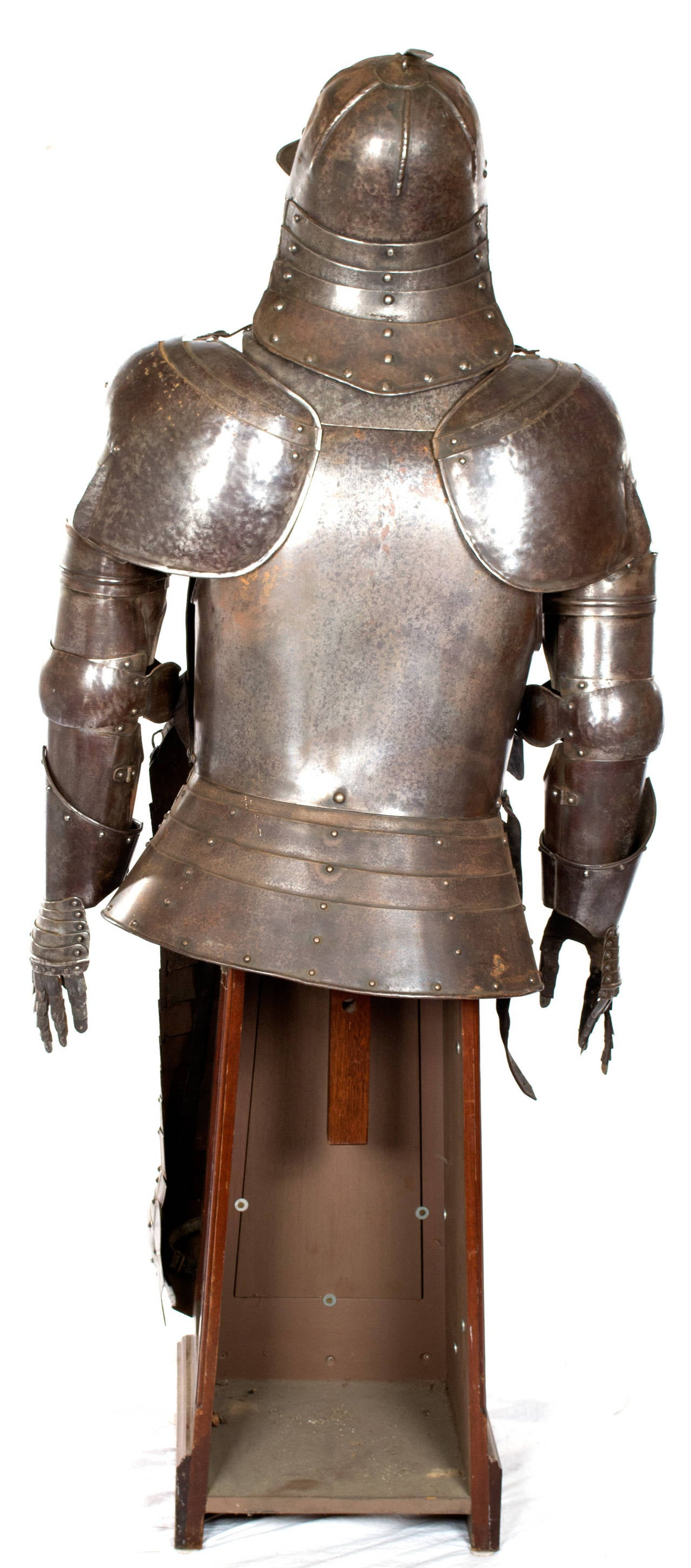back of chair mannequin stand seating area chairs early 17th century suit armor with and