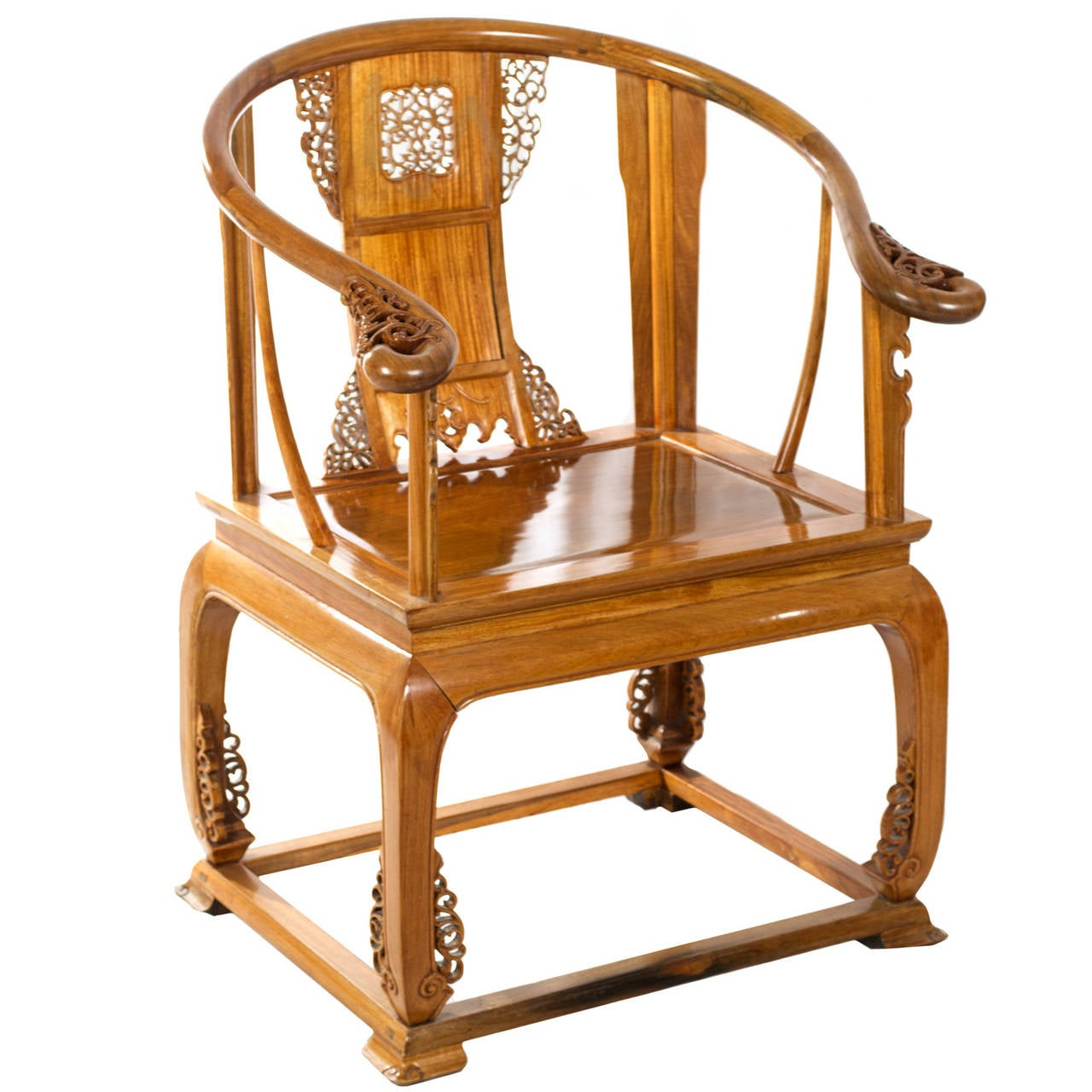 Chinese Chair Chinese Carved Huanghuali Wood Armchair At 1stdibs