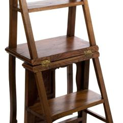 Library Chair Ladder Skyline Furniture Slipper Oak Unfolding At 1stdibs For Sale With A Shaped Inspired By The Sloping Back Splat And Yoke Of Ming This
