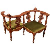 Renaissance Revival Italian Tte--Tte Chair at 1stdibs