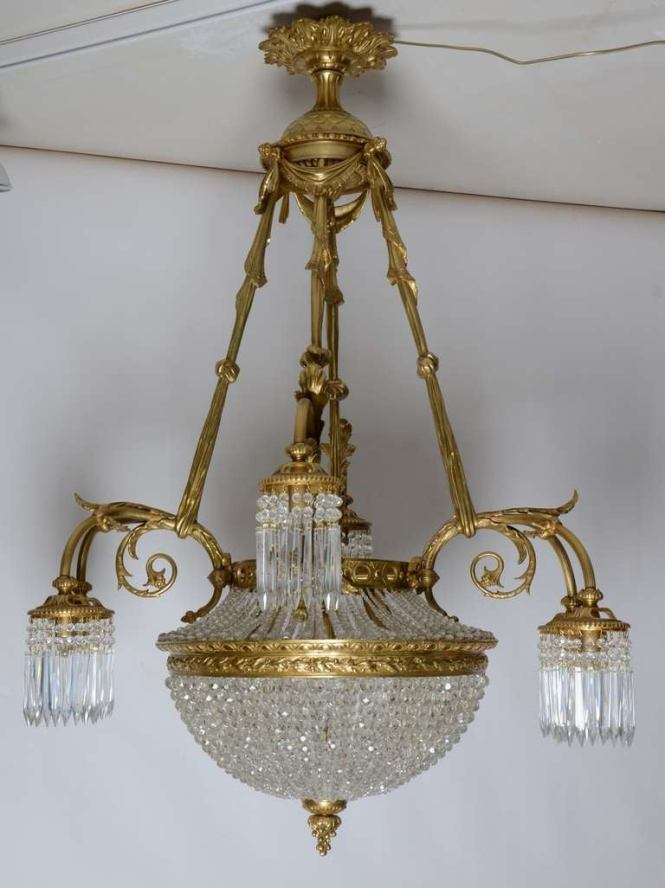 19th Century French Louis Xvi Antique Chandelier 2