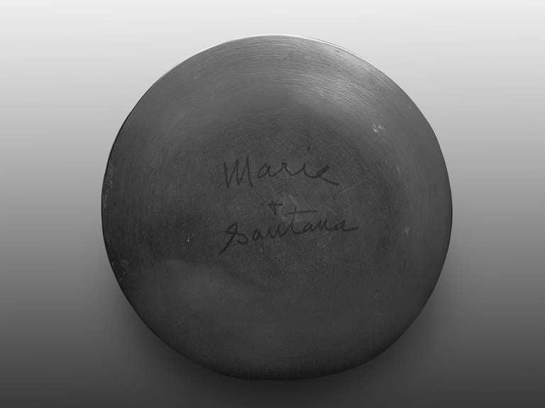 Maria Martinez Pottery Plate Signed Marie And Santana At 1stdibs