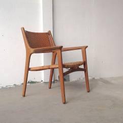 Cane Easy Chair Hanging Basket Hans J Wegner For Johannes Hansen Teak