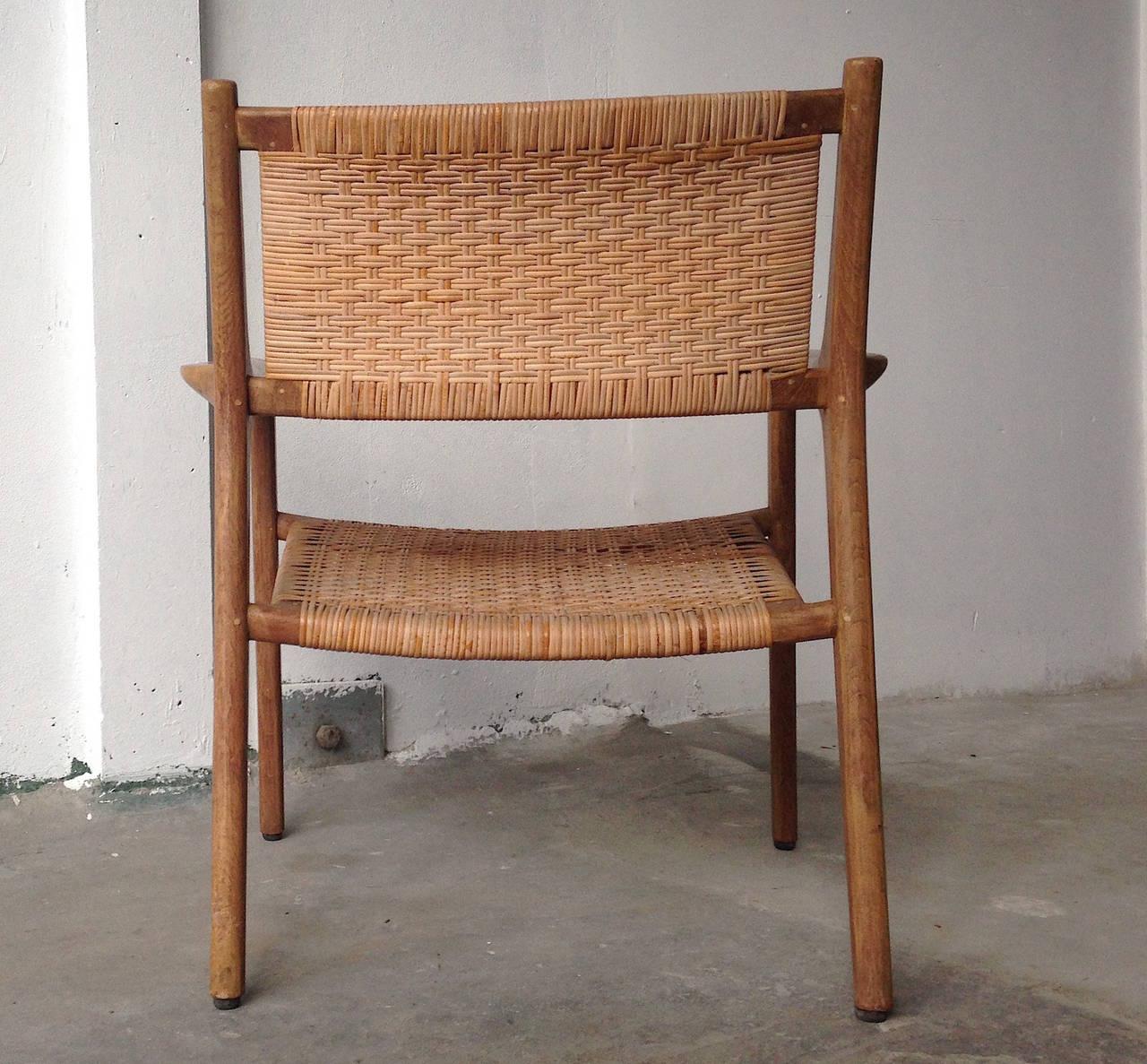 cane easy chair funky dining room table and chairs hans j wegner for johannes hansen teak
