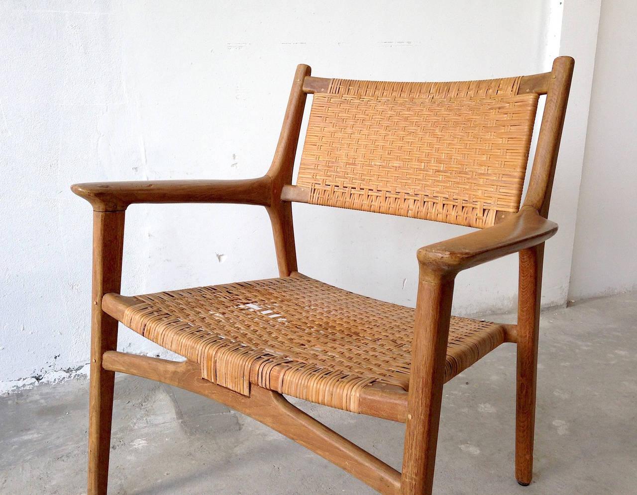 cane easy chair amish made adirondack chairs hans j wegner for johannes hansen teak