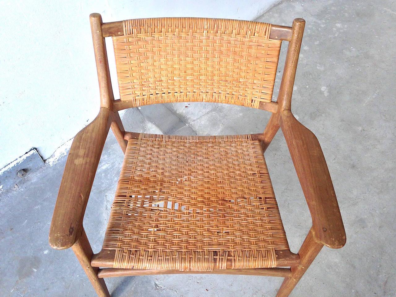 cane easy chair fisher price ez clean high hans j wegner for johannes hansen teak