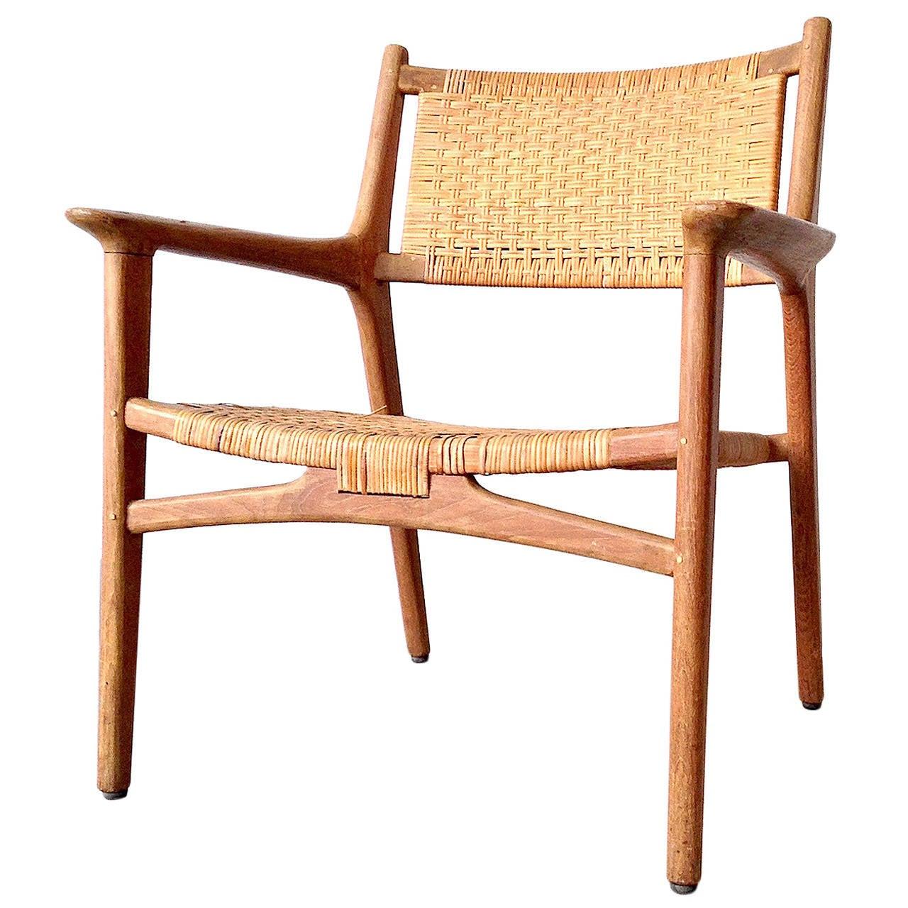 cane easy chair bedroom recliner hans j wegner for johannes hansen teak