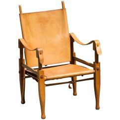 Leather Safari Chair Hanging Nigeria By Wilhelm Kienzle At 1stdibs